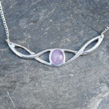 Celtic knot necklace with amethyst P31